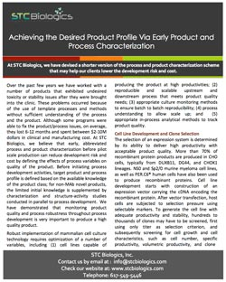 Achieving Desired Product Profile